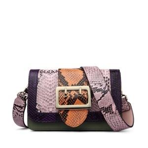 Купить Сумка | клатч женская кожаная розовая зеленая змеиная кожа Zooler, Mini Flap фото цена