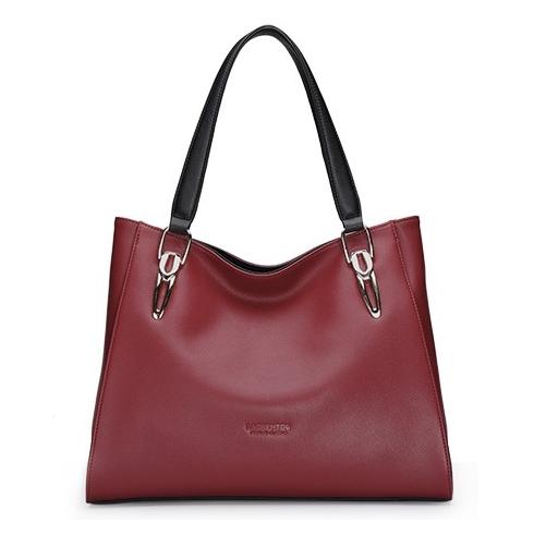 Женская сумка черная / черного цвета Laorentou, Casual натуральная кожа