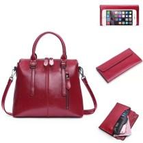 Купить комплект: женская сумка + Женский кошелек одного цвета цена фото