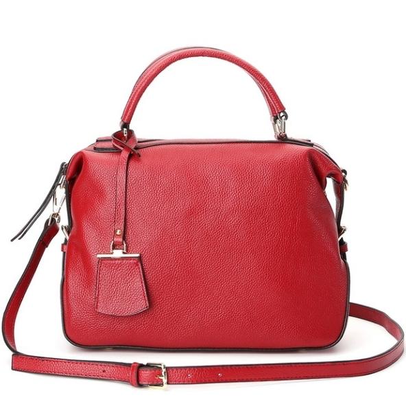 Купить Сумка женская кожаная через плечо красная Esufeir, fashion цена фото