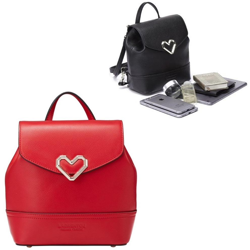 Рюкзак красный черный мини женский сумка рюкзак сумка на плечо