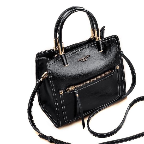 ef4e1dd4c82d Купить Сумка-тоут женская кожаная черная черного цвета Laorentou, Casual  Tote цена отзывы фото