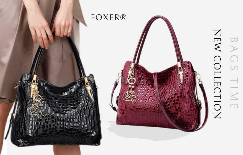 Купити жіночу сумку з натуральної шкіри Foxer, Designer diamonds. Новинка в BAGS TIME!