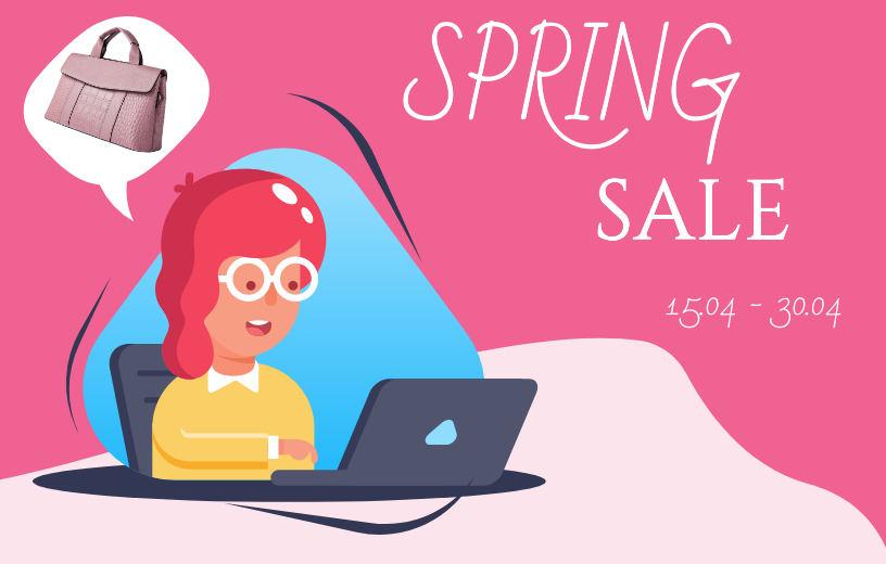 Spring Sale до 30% + Безкоштовна доставка! Купуй кращі сумочки в BAGS TIME!