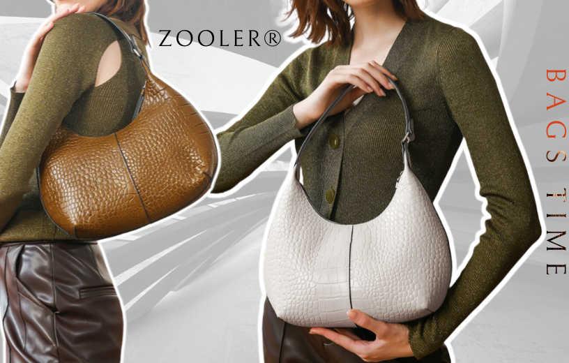 Купити жіночу шкіряну сумку-хобо Zooler, Croco hobo. Новинка в BAGS TIME!