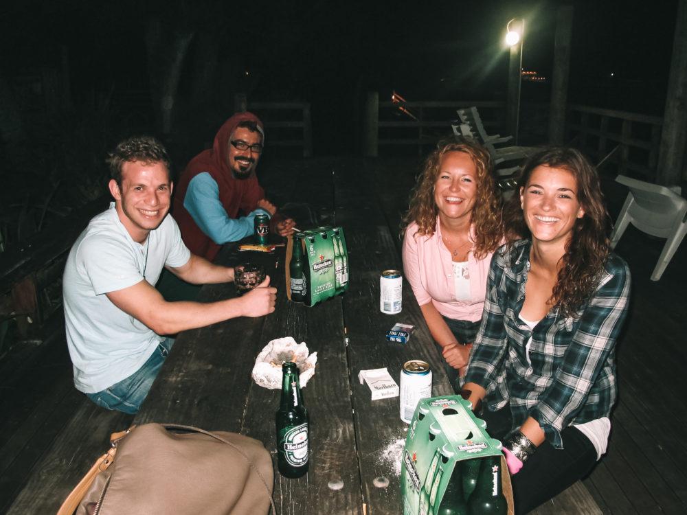 Hostel op de Cook Eilanden aan het strand