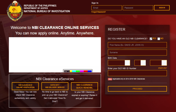 How to apply for NBI Clearance Online