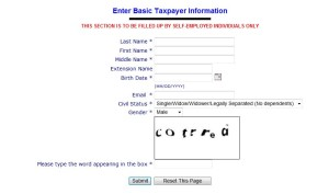bir eregistration system form