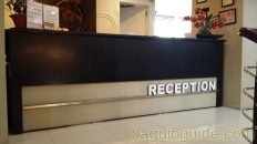 city center hotel baguio reception