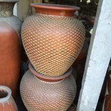 ロンボクラタン編み壷