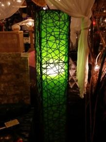 ラタンと布製の大型ランプ♪