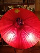 布の巻き方で表現した大型丸ランプ