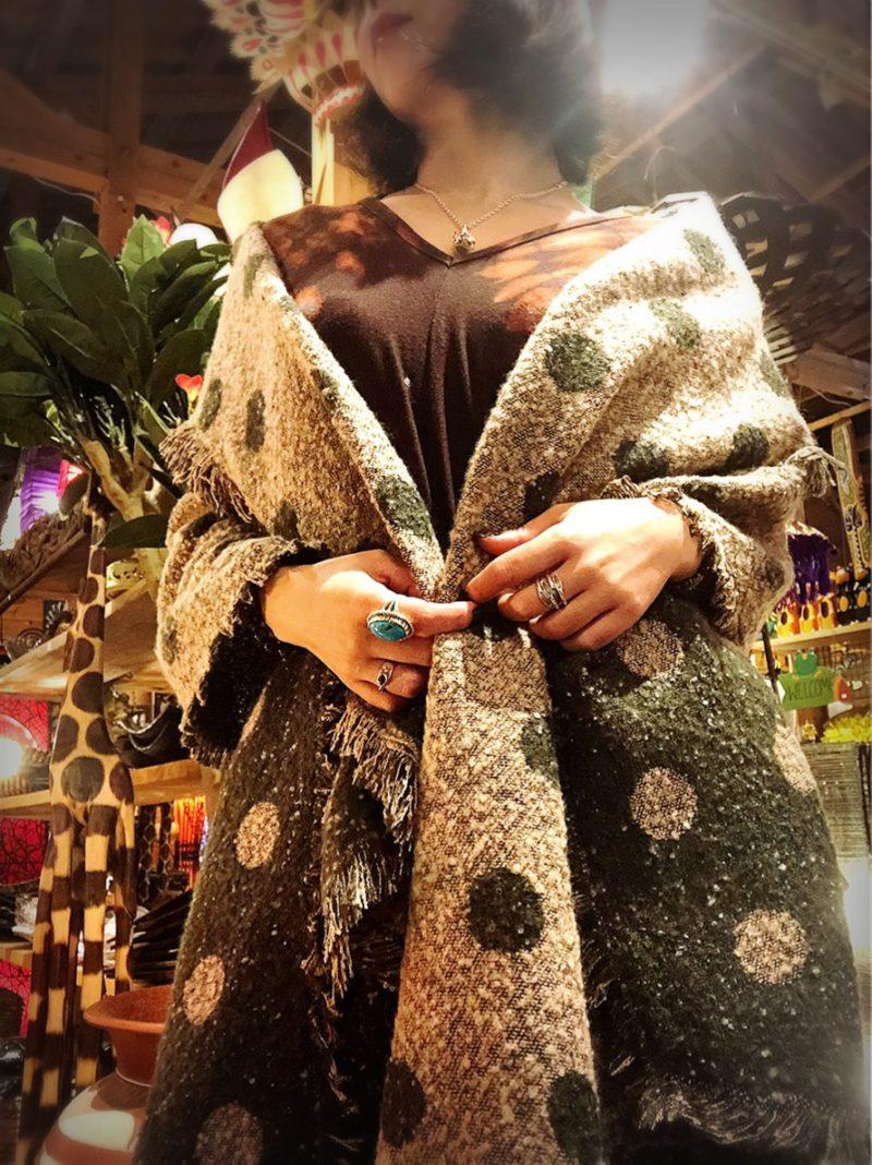 冬のエスニックファッションコーデ
