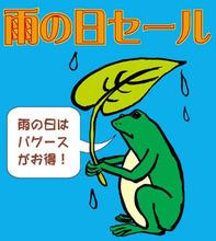 8月20日水曜日も雨の日セール♪ 毎日~毎日よく降るもんです。