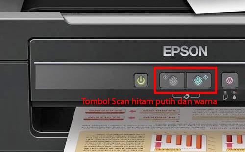 Tombol copy pada printer Epson