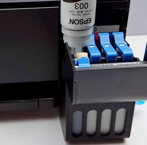 Instalasi tinta pada printer