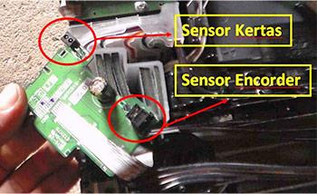 Membersihkan sensor printer