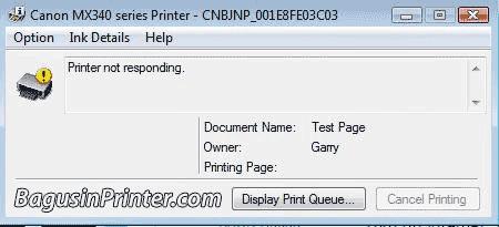 printer not responding