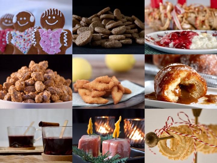 Småkagemand pebernødder risalamande brændte mandler klejner brunnerbasser berliner pfannkuchen gløgg julelys vanillekranse bagvrk.dk