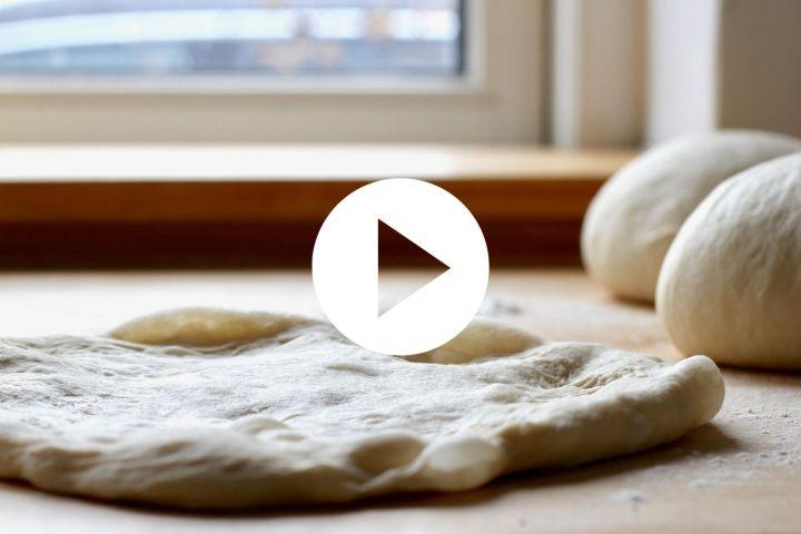 Video til formning af pizza