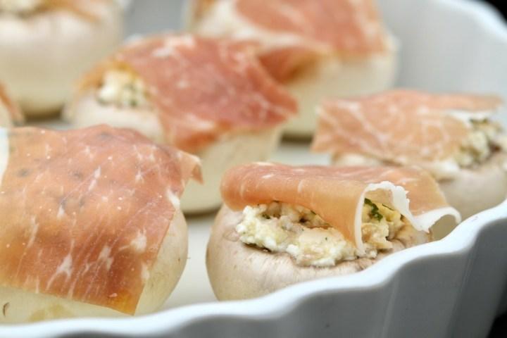 Fyldte champignons tapas Bagvrk.dk