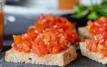 Pan con tomates tapas udvalgt brød med tomater bruschetta Bagvrk.dk