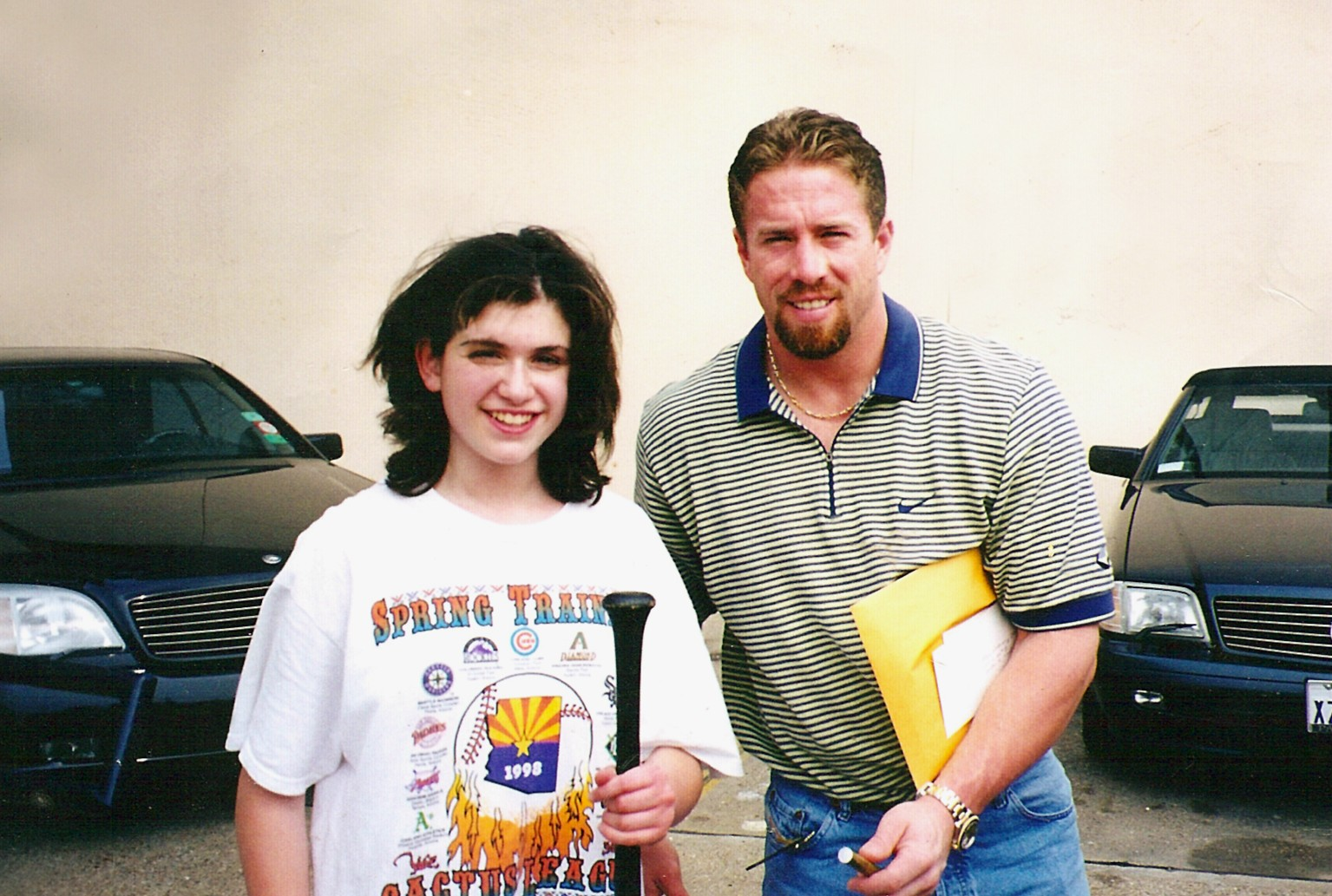 Jeff Bagwell and I when I was 13
