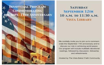 Devotional Program Commemorating the September 11th Anniversary