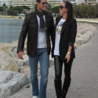 Jelena Jankovic spending time with Mladjan in Cannes.