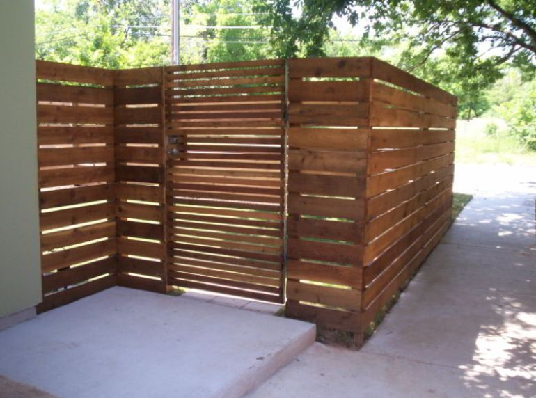 horizontal fence ideas