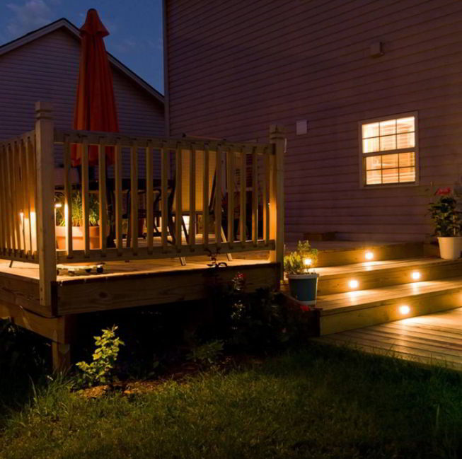 Best Deck with Steps Light
