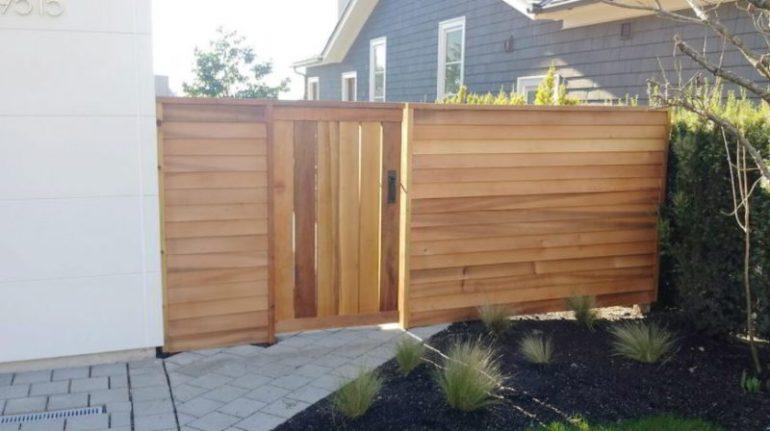 modern fence concept