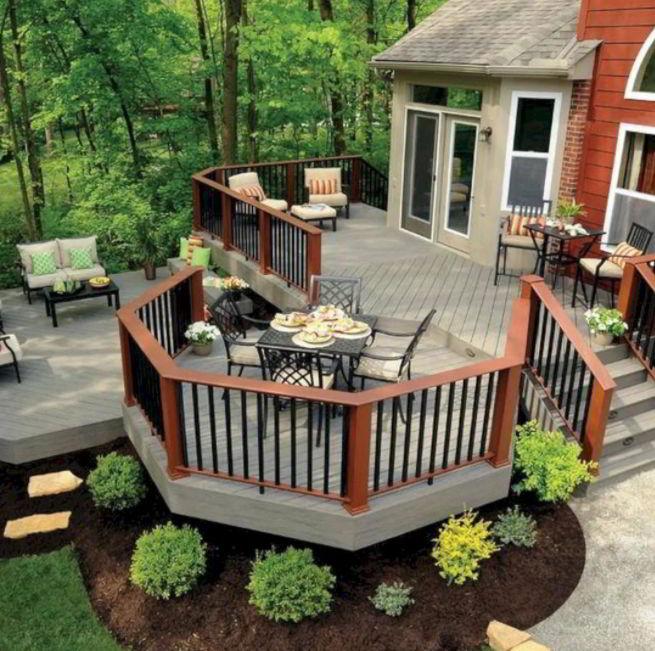 Grey Hexagonal Deck Design