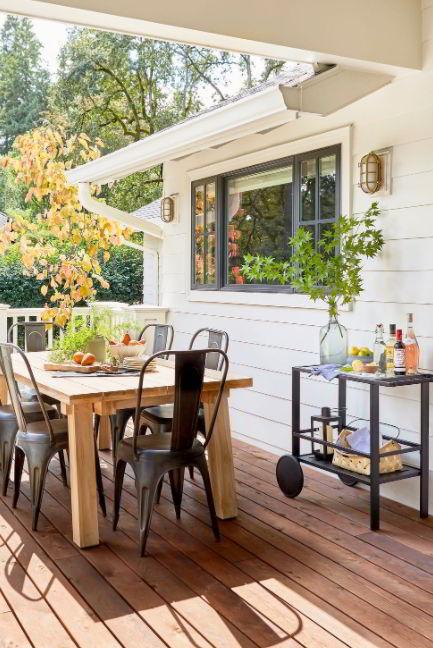 Boho Rustic backyard deck