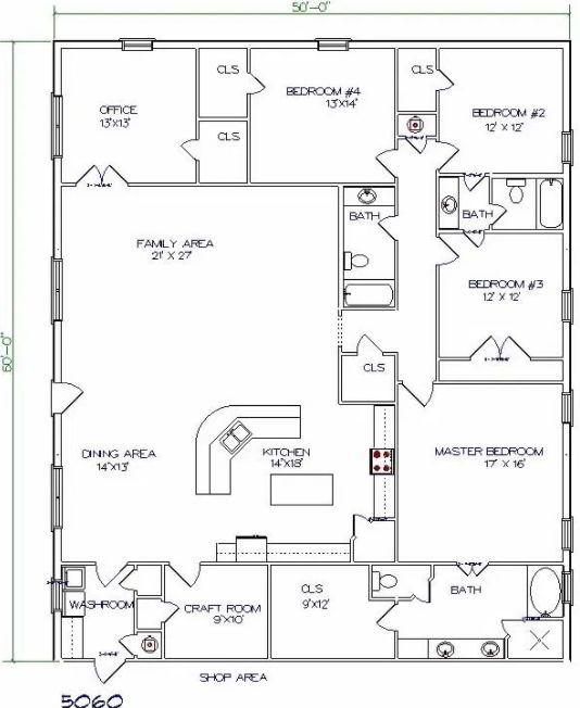 Amazing Barndominium Floor Plans