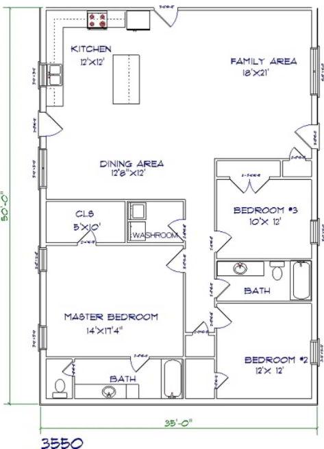 Cozy Barndominium Floor Plan