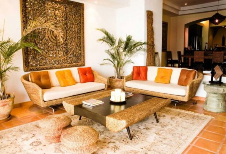 Tropical Indian Living Room
