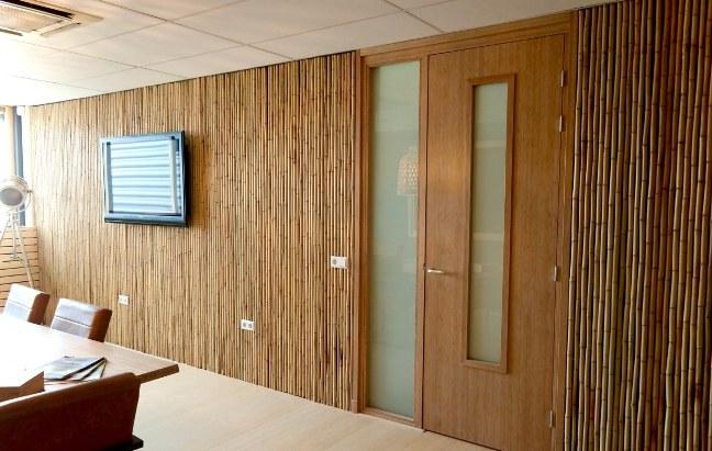 panel dinding bambu