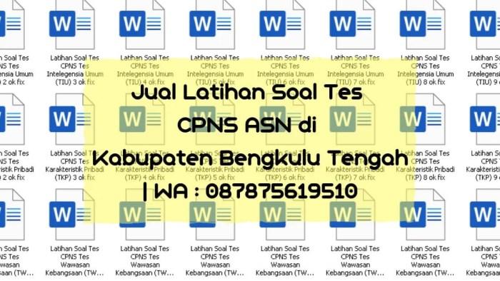 Soal Tes CPNS ASN di Bengkulu Tengah