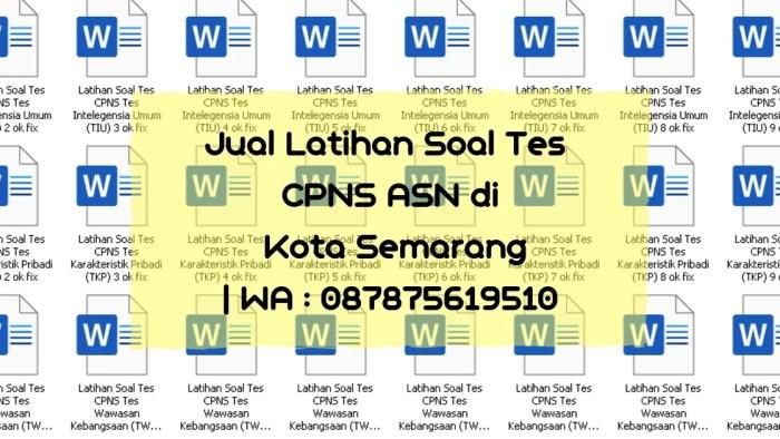 Soal Tes CPNS ASN di Kota Semarang
