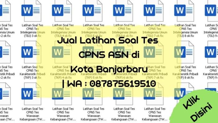 Soal Tes CPNS ASN di Kota Banjarbaru