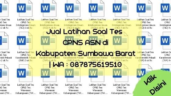 Soal Tes CPNS ASN di Kabupaten Sumbawa Barat