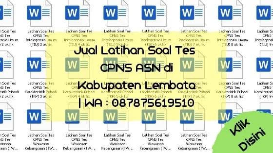 Soal Tes CPNS ASN di Kabupaten Lembata