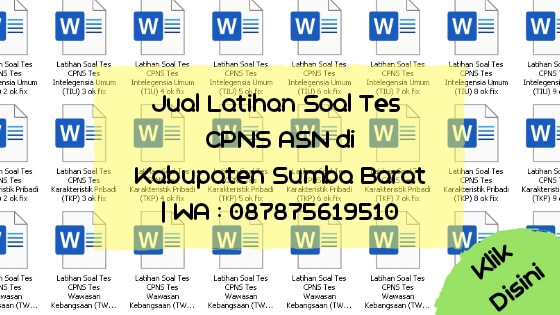 Soal Tes CPNS ASN di Kabupaten Sumba Barat