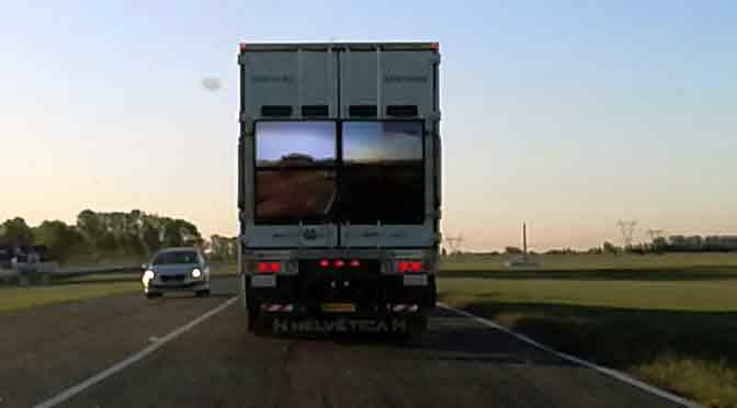Un camión «transparente» para aumentar la seguridad en las rutas