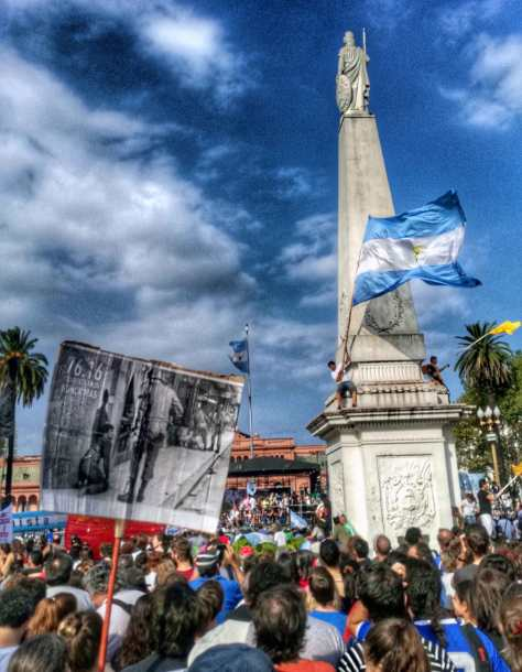 Plaza de Mayo, Buenos Aires, 24 de marzo de 2016.