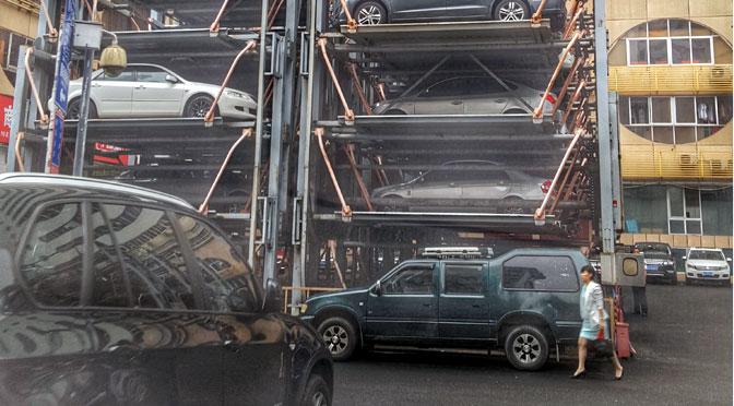 Los estacionamientos estantes de Shenzhen