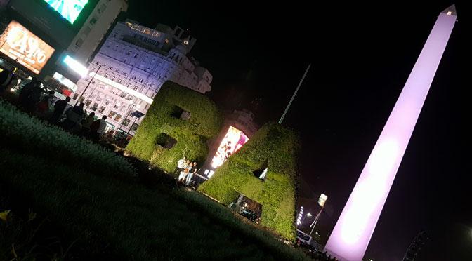 Obelisco nocturno