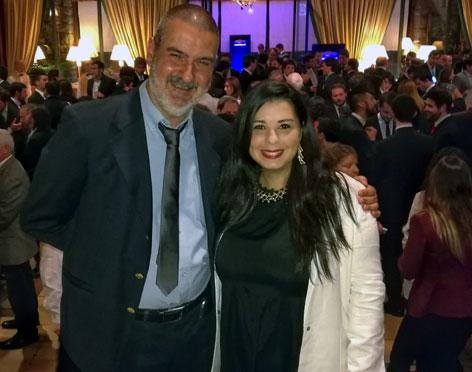 Con Guadalupe Muñoz. Hotel Llao Llao, San Carlos de Bariloche, Río Negro, mayo.