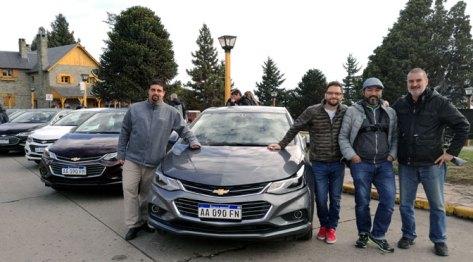 Con Daniel Aizen, Federico Ini y Guillermo Tomoyose. Centro Cívico, San Carlos de Bariloche, Río Negro, mayo.